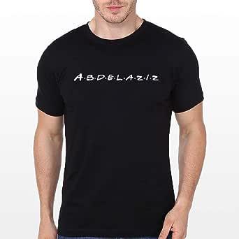 abdelaziz T-Shirt for Men, Size S, Black