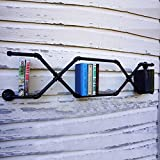 Tengchang 45.3'' X 16.5'' Bookcases Wall Mount Industrial Pipe Shelf Brackets Book Display Holder