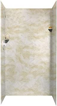 Swanstone SK363672.010 Solid Surface Glue-Up 5-Panel Bathtub Wall Kit White 36-in L X 36-in H X 72-in H