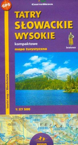 Tatry Slowackie Wysokie Mapa turystyczna 1:27 500 Tatry Slowackie Wysokie Mapa turystyczna 1:27 500