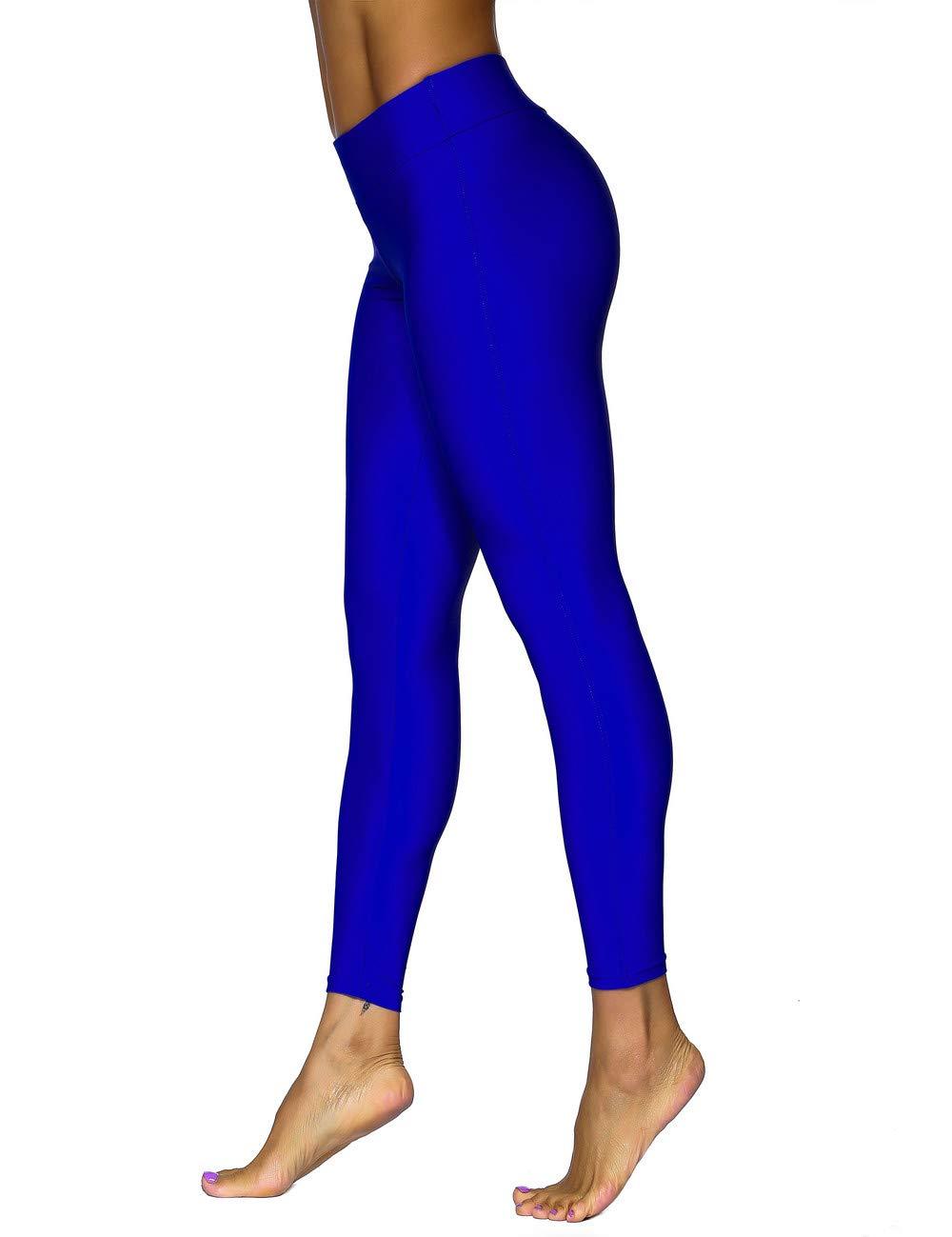 ninovino Women's Swimming Pants UPF 50+ Stretch High Waist Flex Capri Blue US20 by ninovino