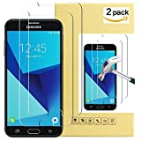 Coosin Galaxy J7 Prime Screen Protector 2 Pack Tempered Glass Screen Protector for Galaxy J7 (2017) J7 V J7 Perx