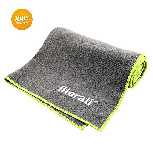 Best Yoga Towel - 100% Microfiber, Super Absorbent - Great As a Bikram, Ashtanga or Hot Yoga Towel, Non Slip - #1 for Pilates, Beach, Gym, Fitness and Sports - Protect Your Yoga Mat. Guaranteed. by Fiterati