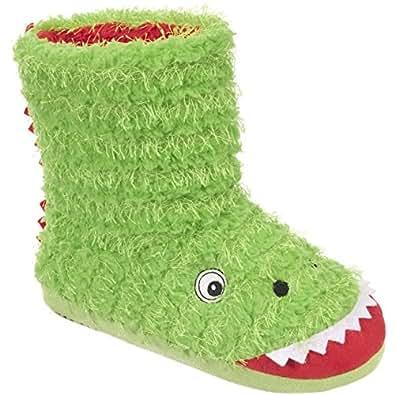 Trespass - Zapatillas botines de estar por casa modelo Dino para niños: Amazon.es: Zapatos y complementos