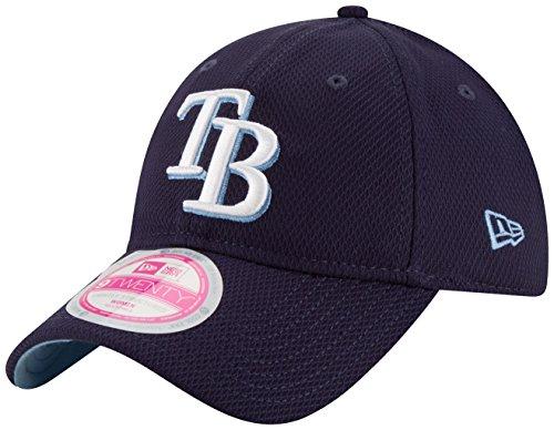 MLB Tampa Bay Rays Women's Tech Essential De 9Twenty Adjustable Cap, One Size, Navy Blue