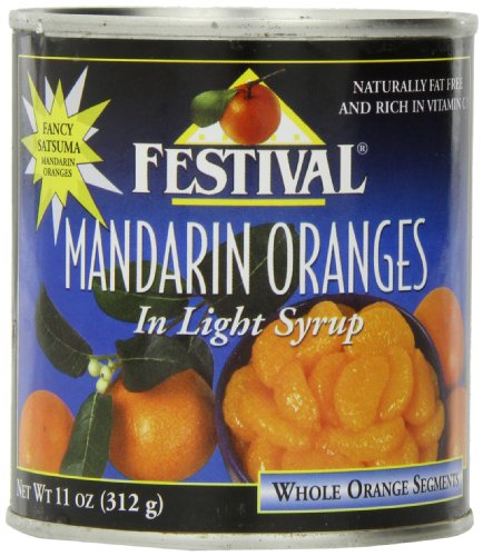 - Festival Mandarin Oranges Whole in Light Syrup, 11-Ounce (Pack of 24)