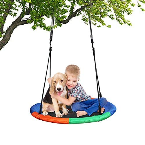 Children's Tree Swing with Hanging Ropes- 700lbs Tree Swing Hanging Kit- Easy Installation with Adjustable Hanging Ropes(5 Feet) Included Platform Swing for Kids - Ideal for Parties and Birthday Gifts
