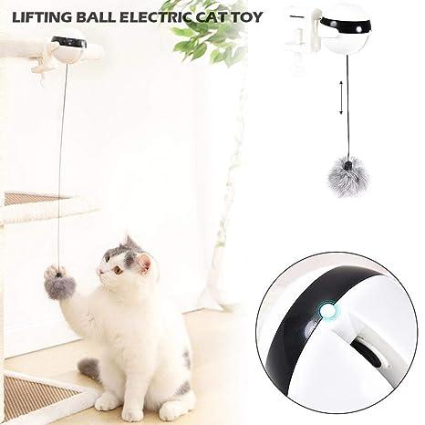 Globalqi - Juguete Divertido para Gatos, balón eléctrico Elevador ...