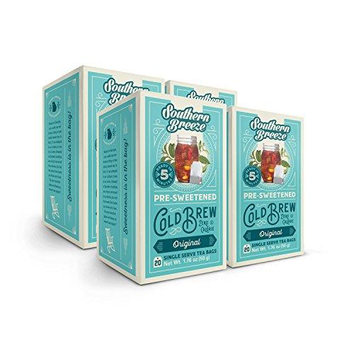 Southern Breeze Sweet Tea, Cold Brew, Zero Calories, Originial Sweet Tea, 20 Count (Pack of 4)