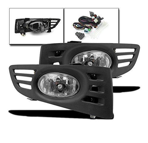 ZMAUTOPARTS Honda Accord EX LX Coupe 2Dr JDM Bumper Clear Fog Lights+Switch+Harness