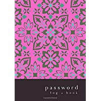 Password Log Book: A5 Medium Password Notebook with A-Z Alphabet Indexed | Large Print Inside | Boho Flower Mandala…