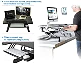 Height Adjustable Standing Up Desk Ergonomic Computer Desk Riser Dual Monitors Sit/Stand Desk for Laptop/Desktop,w/Keyboard Tray&Spring Lifting Arm,36 inch Wide,33lbs Capacity,ProHT (Black 05463A)