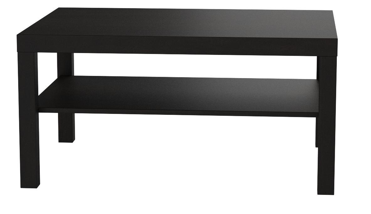 Ikea Mesa de sofá Lack, Color Negro marrón, 90 x 55 cm