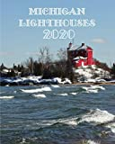 Michigan Lighthouses 2020: Michigan Lighthouse 2020 Daily Planner Calendar Journal Lake Superior Lake Michigan Lighthouses