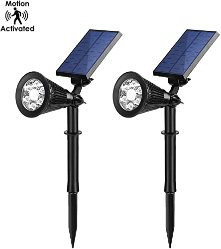 Motion Activated LED Solar Lights with Bright Dim Mode, IP65 Waterproof Landscape Lamp, Auto ON Off – Perfect for Walkway, Garden, Yard and Driveway Pack of 2
