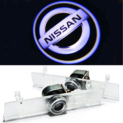 Aukur 2PCS Logo Projector Car Door LED Lighting Entry Projector for Nissan