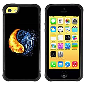 Planetar® ( Yin Yang Elements ) Apple iPhone 5C Hybrid Heavy Duty Shockproof TPU Fundas Cover Cubre Case