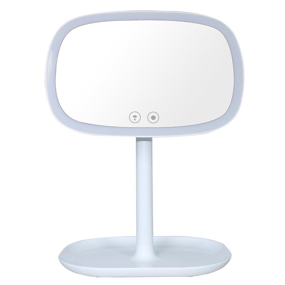 LED iluminado maquillarse Espejo Cosmético 180° giratorio de mesa espejo con aumento de 10x Espejo & HELLERMANN, dimmbarer Zogi, luz de día LED de iluminación, batería/alimentación por USB KKmobi