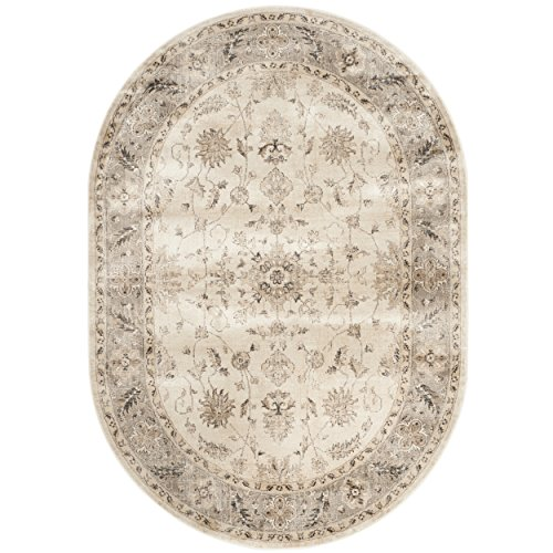 Safavieh Vintage Premium Collection VTG168-3410 Transitional Oriental Stone and Mouse Brown Distressed Silky Viscose Area Rug (5'3