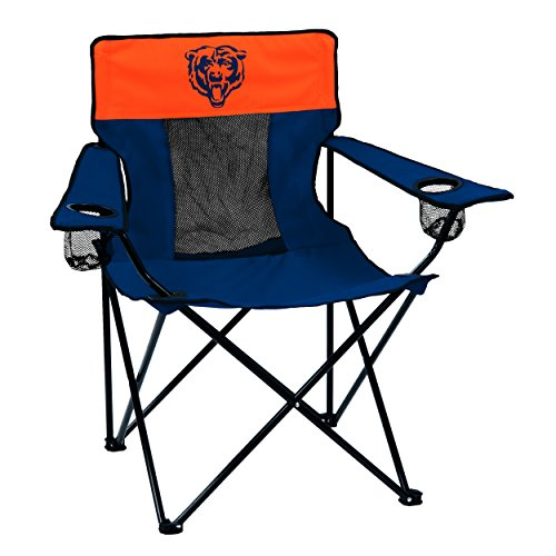 (Logo Brands NFL Chicago Bears  Folding Elite Chair with Mesh Back and Carry Bag ,  Navy,  One Size)