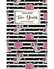 2022-2023 Pocket Planner: Beautiful Floral 2 Year Monthly Calendar 2022-2023 | January 2022 - December 2023 | 24 Month Calendar Agenda Schedule Organizer