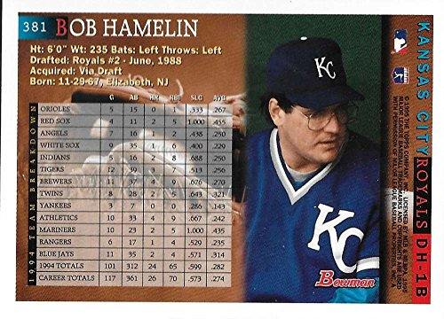 NM//MT Royals Baseball Card Deans Cards 8 1995 Upper Deck # 180 Bob Hamelin Kansas City Royals