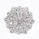 Brooches for Weddings Bulk, 100pcs Rhinestone Brooches 2 inches -Totally Dazzled