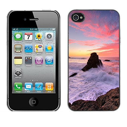 Premio Sottile Slim Cassa Custodia Case Cover Shell // F00012179 californie côte // Apple iPhone 4 4S 4G