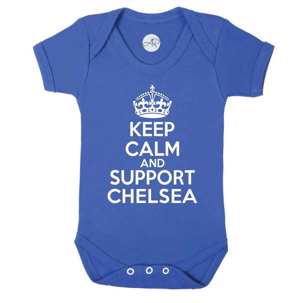Keep Calm and Support Chelsea Baby Vest (0-3 Months) Doodleman