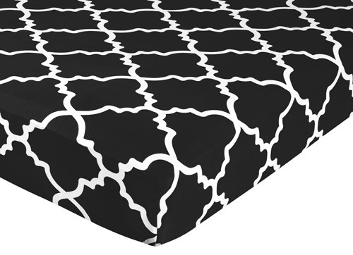 Sweet Jojo Designs Fitted Crib Sheet for Red, Black and Whit