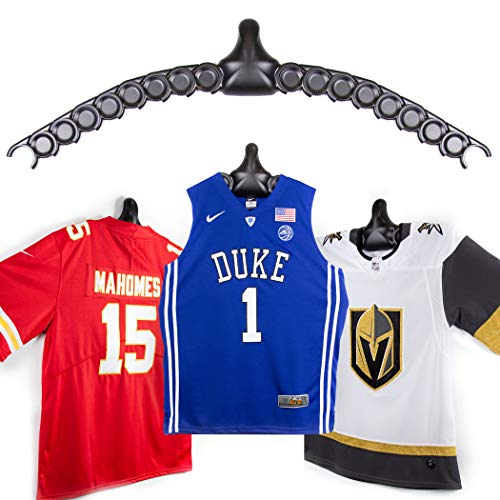 ChalkTalkSPORTS JerseyGenius | The Ultimate Display for All Jerseys | Shapes to Fit Any Sports Jersey (Single) | Versatile Hanger and Wall Display