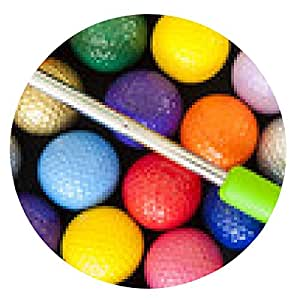 alfombrilla de ratón Green Golf Putter con bolas de colores - ronda - 20cm