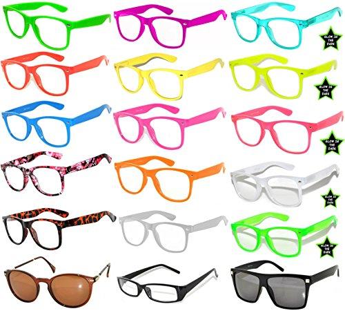 New Fashion Vintage Clear Lens Sunglasses Colored Frame 18 - Wholesale Wayfarer Clear Glasses