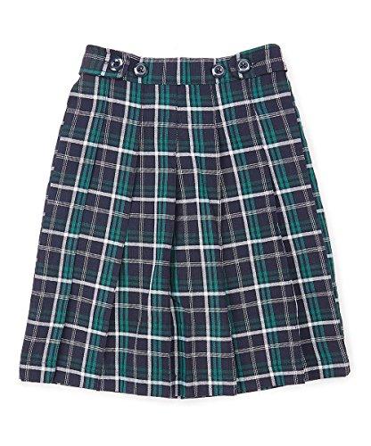 Girls Green Skirts Plaid (unik Girl Pleated Uniform Scooter Size 5-16 (Green Plaid, 10))
