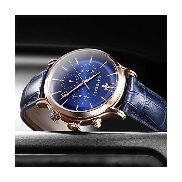 Orologio da uomo, Collezione Epoca, movimento al quarzo, cronografo, in acciaio, PVD oro rosa e cuoio - R8871618007 2