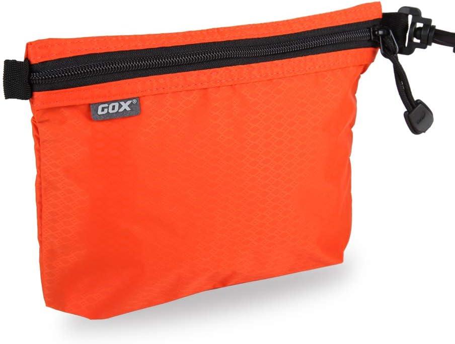 GOX Ultra Light Carry On Zipper Pouch Toiletry Bag Packing Sack Makeup Bag Digital bag (Orange)