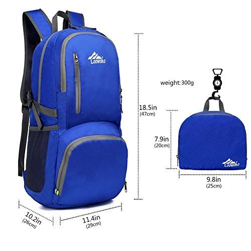 25l Sports À Loowoko Ultra Sac Compact Camping Léger Pour Femme Dos Imperméable léger De Plein Randonnée Air Homme Voyage Bleu Pliable w05Iq5xr