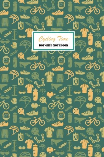 Bicycle Journal (Cycling Time Dot Grid Notebook: 120 pages Cream Paper Compact 6