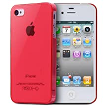 Fosmon Ultra Thin Air Jacket Skin Case for Apple iPhone 4S / 4 (Red)