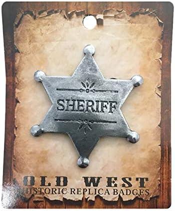 Anstecker Pin Sheriffstern Sheriff Historische Nachbildung Made in USA Western Country