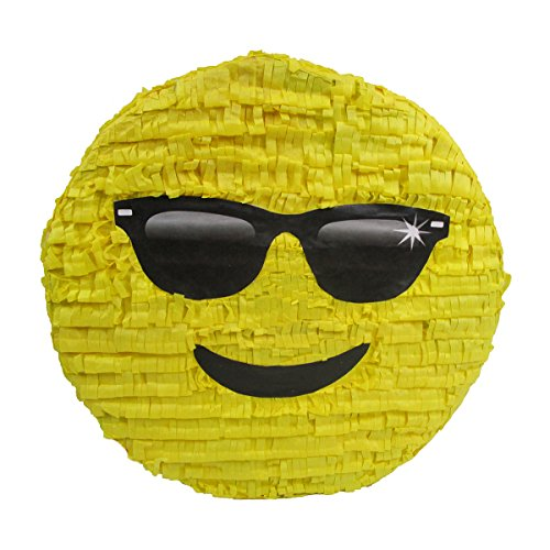 Pinatas Cool Sunglasses Emoji, Party Game, Centerpiece Decoration and Photo Prop -