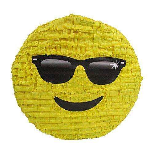 Cool Sunglasses Emoji Pinata, Party Game, Centerpiece Decoration and Photo -