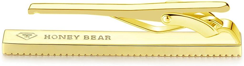 Taille Normale Acier Inoxydable pour Le Cadeau de Mariage Affaires,5.4cm HONEY BEAR Homme Pinces /à Cravate