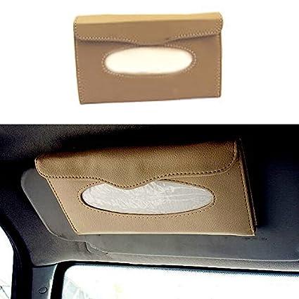Vetra PU Leather Car Sun Visor Tissue Box Dispenser with Tissues for ... 02a7f053dbb
