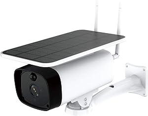 eLinkSmart Outdoor WiFi Camera Security Wireless Rechargeable 1920x1080 Video, Night Vision, PIR Motion Detection, 2-Way Talk, Waterproof, Cloud Storage
