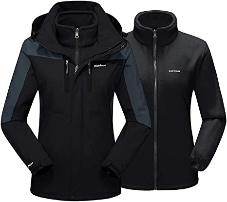 Womans Outdoor Soft Shell Outfits Outdoor Sports Fleece Hooded Coat Winter Coats for Women