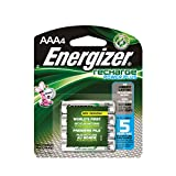 Energizer NH12BP-4 Rechargeable Nickel Metal Hydride AAA Battery, 4-Count