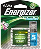 Energizer EVENH12BP4 Recharge Power Plus AAA 700 mAh Rechargeable Batteries, Pre-Charged (Pack of 4)