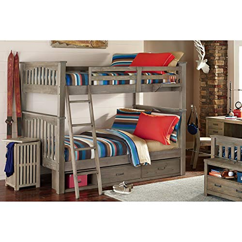 NE Kids Highlands Harper Full Over Full Storage Bunk Bed in