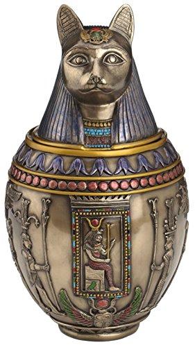 Rare Egyptian Bastet Cat Memorial Urn